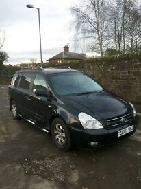 2007 KIA SEDONA 3.0 LSA DIESEL AUTOMATIC . 7 SEATER .MOT'D 09/17 . 93,000 MILES. EXCELLENT CONDITION