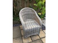 Wicker Arm chair - indoor, balcony, patio or garden
