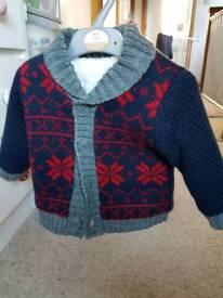 Zip fasten woolen fleece