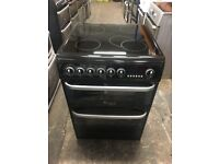 Cannon CH60EKKS 60cm Electric Cooker in Black, Ceramic Hob Double Oven