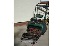 Atco Balmoral 17se Lawn Mower including scarifier cassette and blade sharper perfect working order