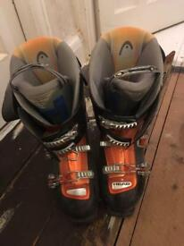 men's ski boots, Head, 90 flex, size 29.5 /U.K. 11