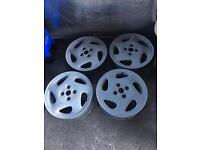 "4x Vauxhall corsa 15"" 4x100 alloys refurbished to primer"