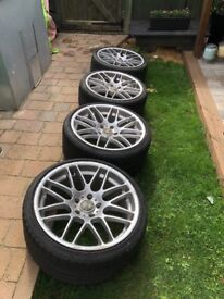 """19"""" CSL Staggered Replica alloys and tyres"""