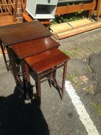 Set of 3 old tables