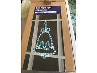 Outdoor Blue Bell Christmas Light