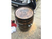 Oak barrels garden furniture