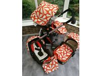 *Reduced price* Cossatto Giggle sunny travel system inc. matching car seat, pushchair and carrycot