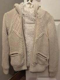 Girls 8-9 marks and Spencer knitted winter cardigan coat