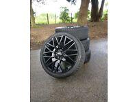 """17"""" MOMO Revenge Alloy Wheel Matt Black - set of 4 - with tyres"""