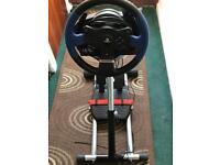 PS4 racing wheel and stand