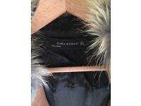 Zara brown wool coat