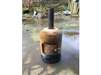 Gas bottle wood burner
