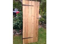 Lovely wooden door including furniture