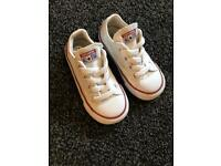 Converse all star pumps size uk 7 infants todders size like new