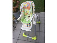 Chico Polly 2 in 1 'Sunny' High Chair - Very good condition and no rips