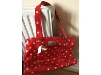 NEW Cath Kidston Large Tote bag - Red with cream spots