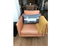 Barker & Stonehouse leather sofa and chair