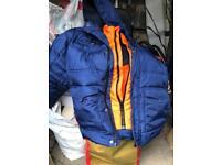 Warm Boys' Coat 7-8 Years - George Navy School Padded Hooded