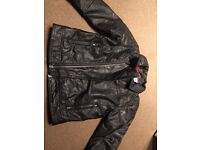 Boys leather jacket and George pig top