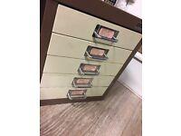 Bisley Filing Drawers in vintage brown & cream