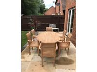 Bramblecrest Teak solid oval teak 6 seater garden furniture set
