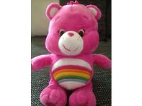 LARGE CARE BEARS PLUSH TOYS ROUND 22 CM HEIGH PLEASE CHECK ALL PHOTOS