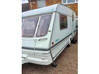 Swift Azzura 2 berth caravan with awning, no damp