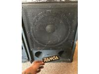 Ramsa Panasonic 300w speakers
