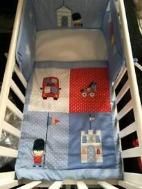 Little boy soldier bedding for crib