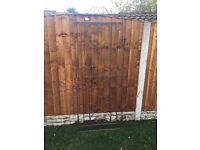 6 Foot tall iron garden gate