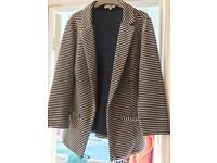 Blue white stripe Jacket