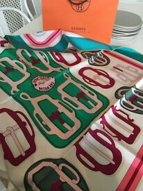Beautiful boxed silk Hermes Scarf
