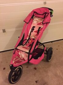 Phil and Ted Pink Camouflage Pram - no longer needed