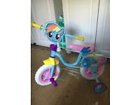 Hardly used new Kids/Childrens girls tricycle