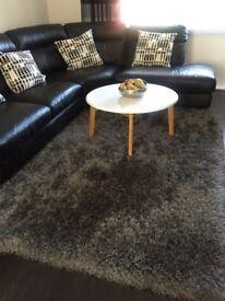 Large gray rug