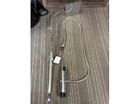 Victorian style thermostatic shower - almost new - dual head