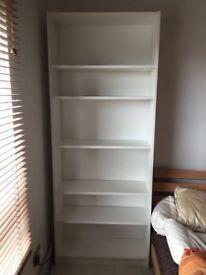 Big white bookshelf, very good condition