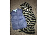 Boys aged 4 gilet and dressing gown