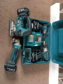 Makita tool kit 18v cordless