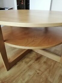 Wooden coffee table 900mm diameter