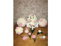 Made to Order Wedding Bouquets Bridesmaids Flower Girl Buttonholes Bride Flowers Artificial Roses