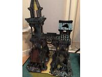 Large wooden playsets tower of darkness and castle of doom and