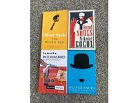 Books: Oliver Sacks (2), Nikolai Gogoi (1), Raymond Smullyan (1)