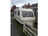 Abi ace prestige 4 berth caravan with awning for sale