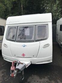 Lunar quasar 4 Berth fixed bed touring caravan