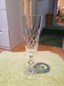 6 x Crystal Champagne Flutes