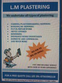 plasterer for all your plastering needs,, walsall area, 20years experience