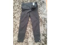 M & S UK 14 Super slim Grey soft touch trousers with zips on the ankles. Brand new with tags. 34. To