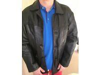 Ben Sherman black leather jacket